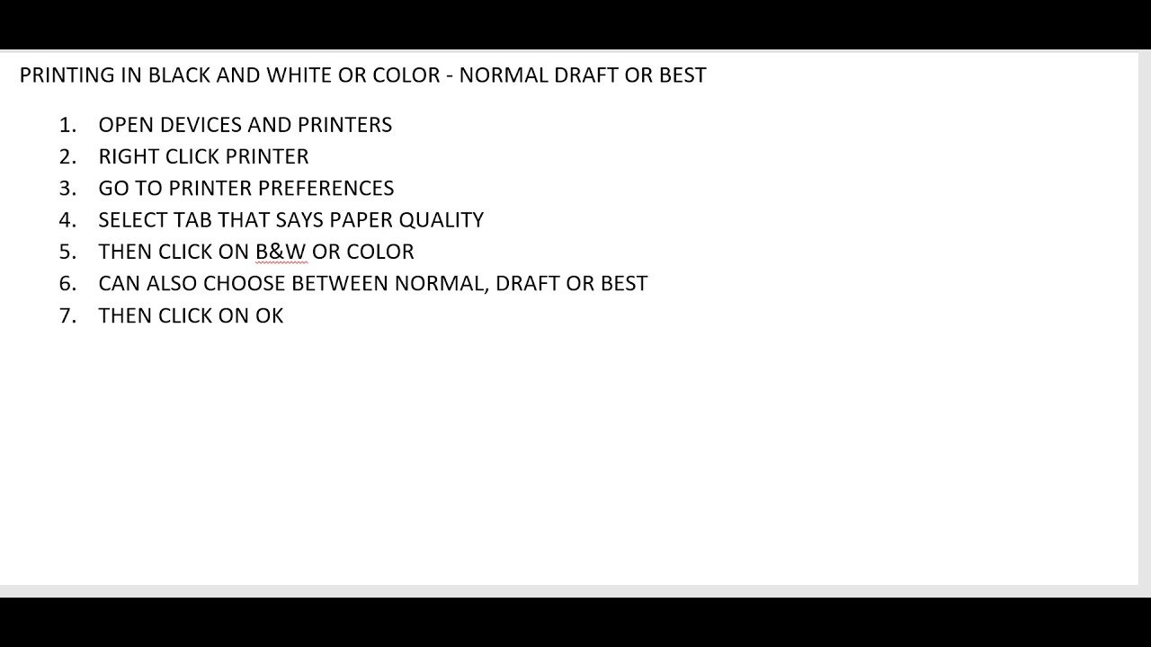 Best color printing quality - Printing In Black And White Or Color Normal Draft Or Best