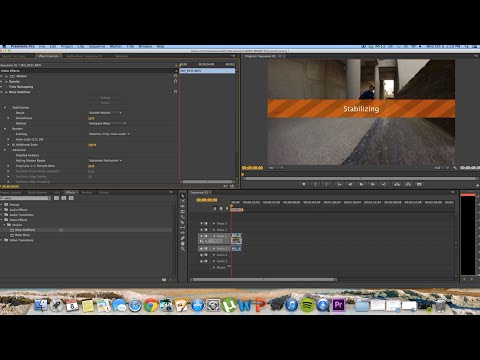 How To Stabilize Footage in Premiere Pro CS6 With Warp Stabilizer
