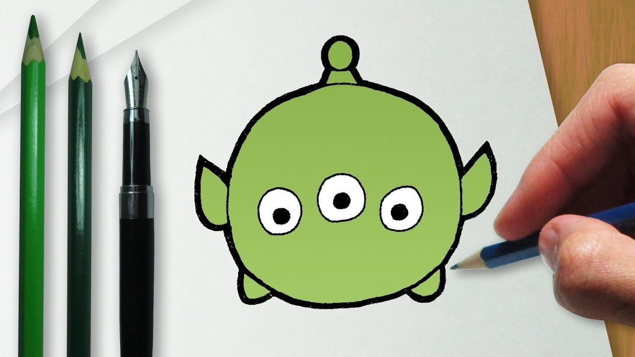 Cómo Dibujar El Pato Donald En La Versión Disney Tsum Tsum: Cómo Dibujar E.T. De Toy Story En La Versión Disney Tsum