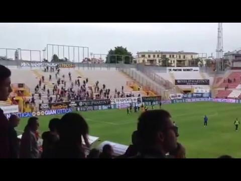 Fine partita di Vicenza vs Ternana