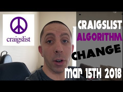 Craigslist Algorithm Change 2018 [Mar 15th Must Pay For Gigs and Services]