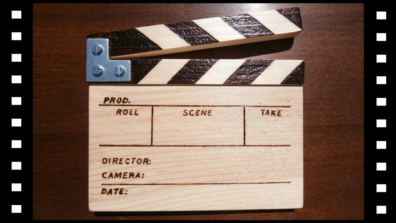 ciak legno  come realizzare un ciak in legno clapperboard ( part 1/2 ) - YouTube