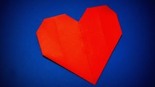 Origami - How to make a simple lovely Heart
