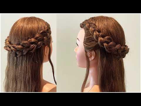 ถักเปียสวยๆ ทรงผมออกงานง่ายๆ ถักเปียนูน | Beautiful hairstyle | Simple open hairstyle for girls