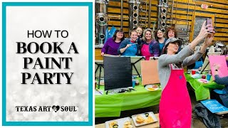 How to Book a Paint Party FAST!!! Download the Exact Script Here! || Texas Art & Soul