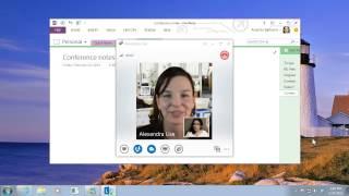 Make a video call in Lync 2013
