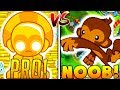 PRO VS NOOB - BLOONS TOWER DEFENSE BATTLE