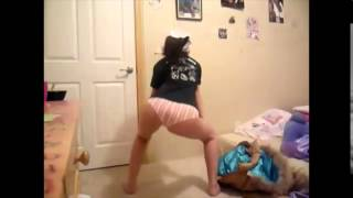 white girl twerking in booty shorts