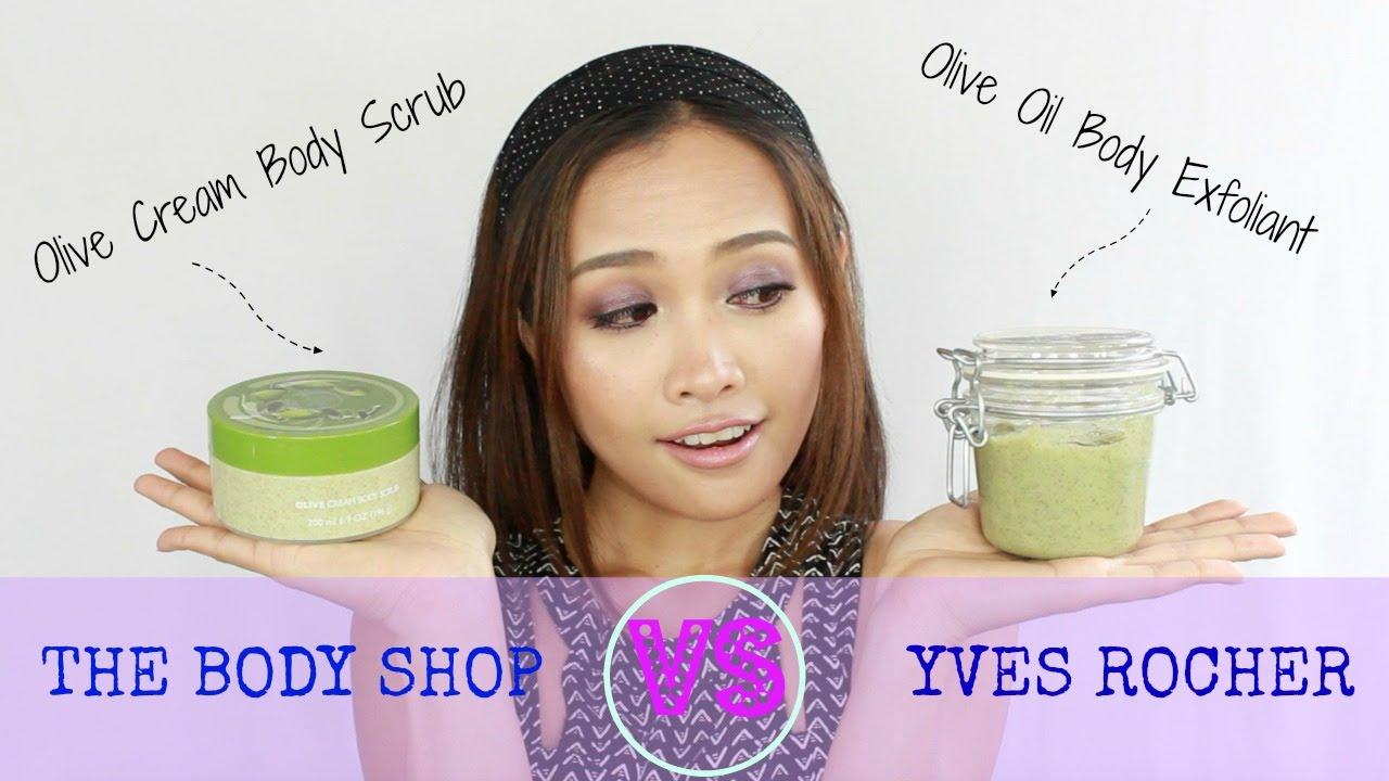 The Body Shop Vs Yves Rocher Olive Oil Body Scrub Exfoliant