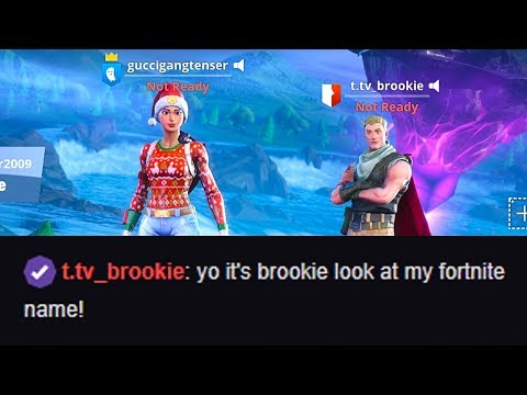 My biggest fan put Twitch in his Fortnite name to troll me...