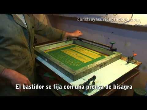 video aula de silk screen