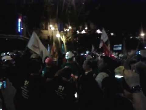 """""""Santa Bárbara Bendita"""" al paso por Plaza de España #marchaminera"""
