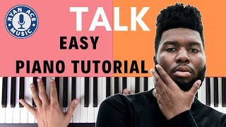 Khalid - Talk | EASY Piano Tutorial