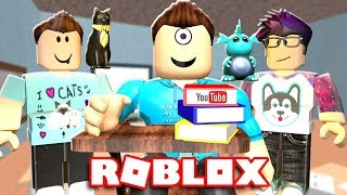 GOING TO YOUTUBE SCHOOL IN ROBLOX! | MicroGuardian