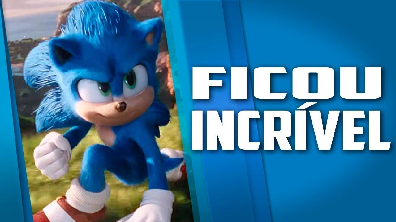 NOVO VISUAL do Sonic filme oficial, ficou incrível, novo trailer SONIC