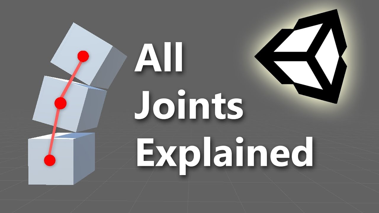 Fixed, Spring, Hinge, Character & Configurable Joint explained - Unity  Tutorial