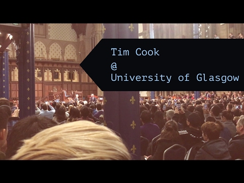 Tim Cook @ University of Glasgow [Full Event]