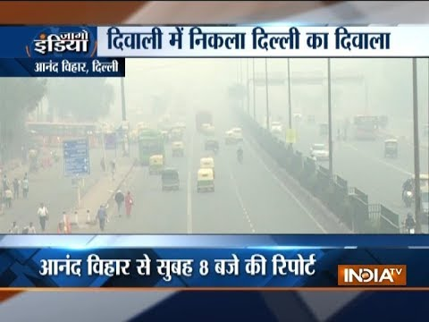Delhi air quality gets poorer post Diwali celebrations