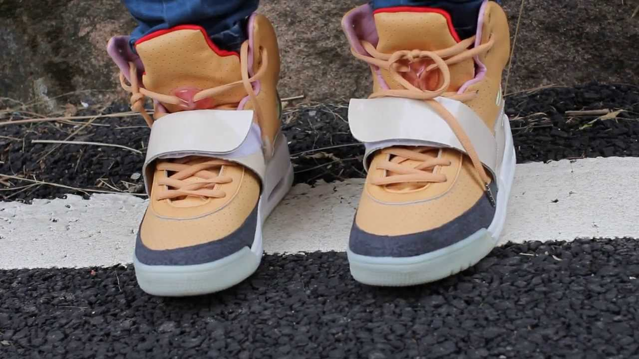 637fe15aed4125 Replica Air Yeezy 1 Net Net Tan instock from airyeezyshopping - YouTube