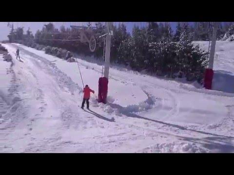 Ski sur le Mont Lozère-mars 2016