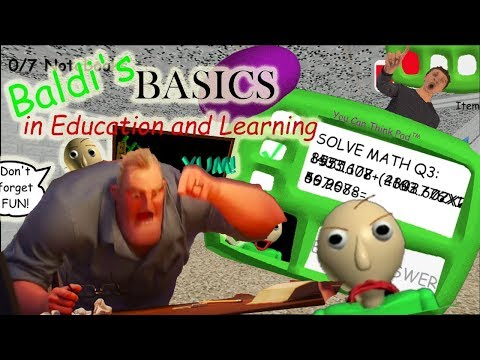 Let's Play Baldi's Basics in Education and Learning: GOTTA SWEEP SWEEP SWEEP