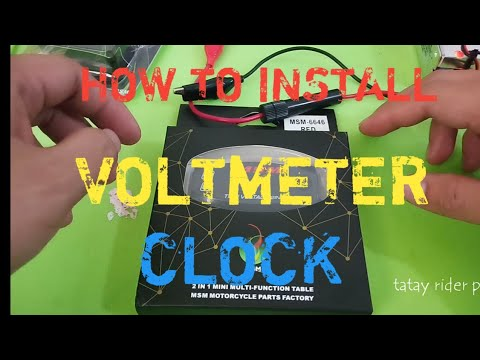 motorcycle voltmeter wiring diagram how to install voltmeter with clock youtube  how to install voltmeter with clock