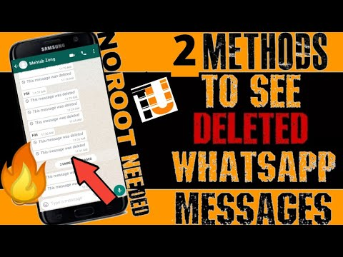 How To Read/recall WhatsApp Deleted messages| 2 Simple tricks| TEcHNIcAL URDu