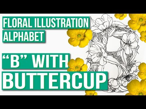 """flower-alphabet- -draw-the-letter-""""b""""-with-buttercup-flowers"""