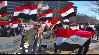 كلمة الجبهة الديمقراطية الشعبية الاحوازية في مظاهرة كندا يلقيها ابو سفيان الاحوازي ابريل 2015