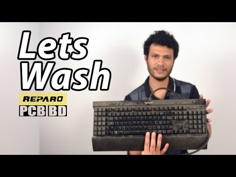 How to clean a Mechanical Keyboard - K95 Corsair   Reparo Episode 1   PCB BD