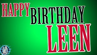 Happy Birthday LEEN! 10 Hours Non Stop Music & Animation For Party Time #Birthday #Leen