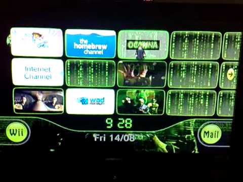 My Matrix Themed Wii  Custom Start up, Channels and Menu Theme