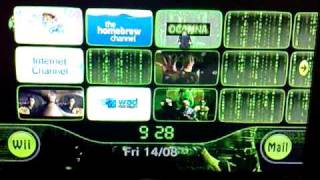 My Matrix Themed Wii.  Custom Start up, Channels and Menu Theme