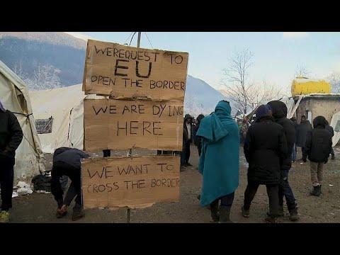 شاهد: الأوضاع البائسة في مخيم للمهاجرين في البوسنة قررت السلطات إزالته…  - 21:58-2019 / 12 / 6