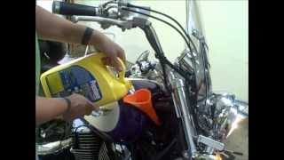 How to change the coolant on a 1995 Honda Shadow 1100 ACE motorcycle