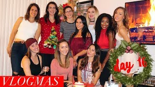 VLOGMAS DAY 16: HOLIDAY COOKIE EXCHANGE PARTY | Whitney Wiley