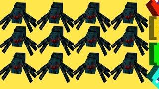 Б'ЄМО 100 павуків у МАЙНКАРФТ Завдання #16 Minеcraft. Мультик гра з модами.