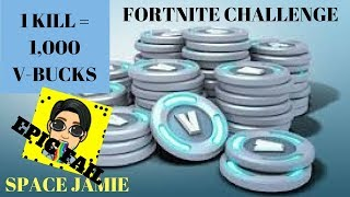 1 Kill = 1000 V-BUCKS Little Brother Accepts Challenge (Fortnite Battle Royale)