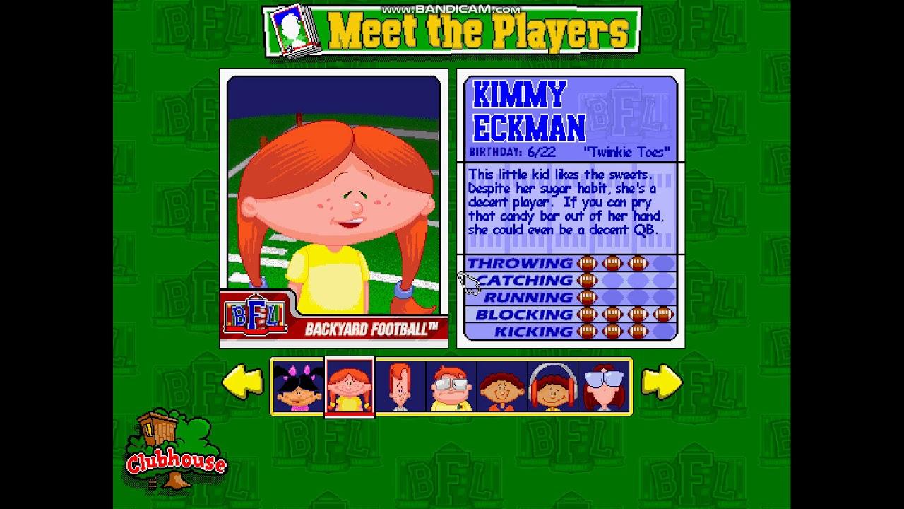 Backyard Football 1999 Meet The Player Part 2 - YouTube