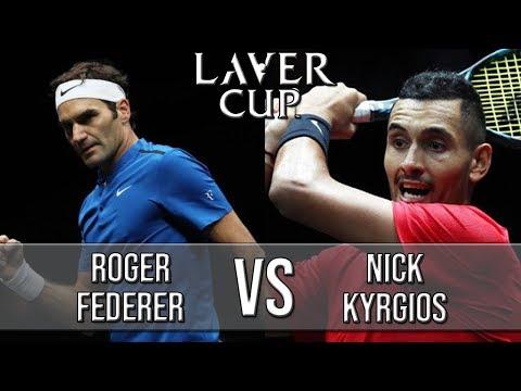 Roger Federer Vs Nick Kyrgios - Laver Cup 2018 (Highlights HD)