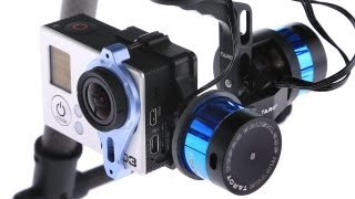 Repeat youtube video HeliPal.com - Tarot T-2D Brushless Gimbal T2D - GoPro HERO 3 Stabilizer