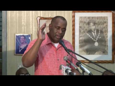 Hon. Prime Minister Roosevelt Skerrit address at town hall meeting in Roseau.
