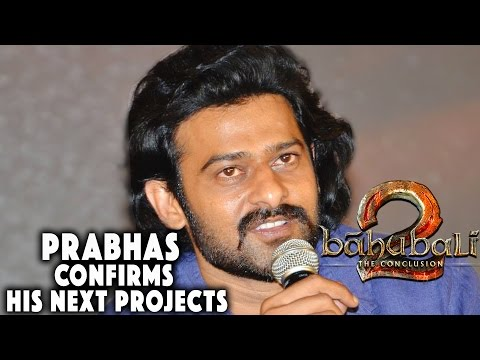 Prabhas About His Next Movies at Baahubali - The Conclusion | Official Press Meet