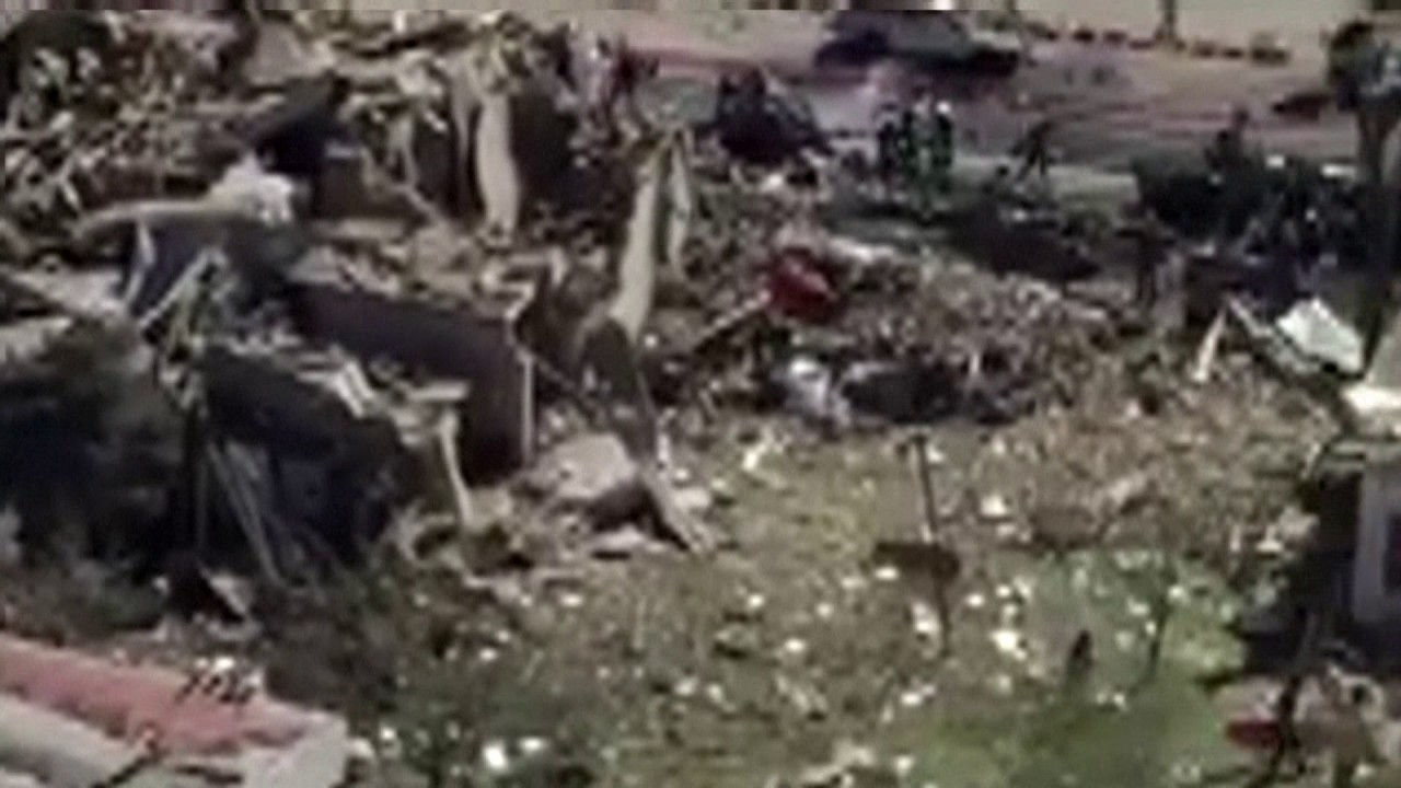 Aerial footage shows aftermath of massive Kabul truck bomb