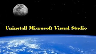 Как удалить Microsoft Visual Studio.How to delete Microsoft Visual Studio.