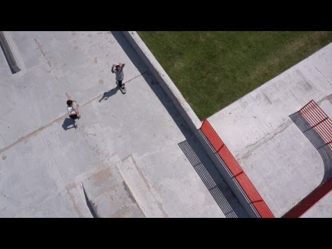 Aerial Video of Heritage Skate Park in Clarksville, TN
