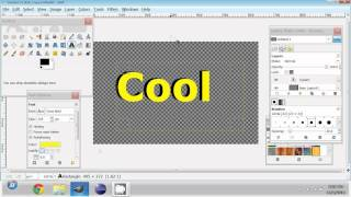 GIMP transparency tutorial 1