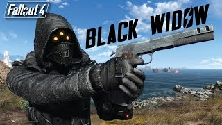 BLACK WIDOW ARMOR AND 45 AUTO PISTOL - Fallout 4 Mod Review PC XBOX ONE