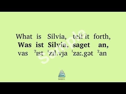Franz Schubert - An Sylvia