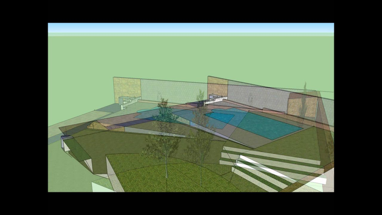 Projet piscine google sketchup youtube for Projet piscine